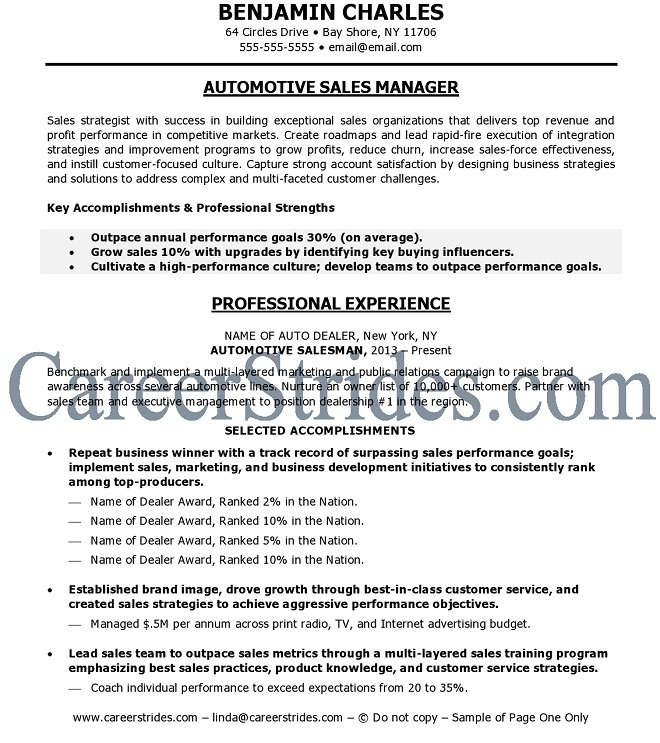 Only page one of this resume is visible. Copyrighted. Do Not Copy.