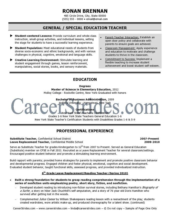elementary school resume sle exle