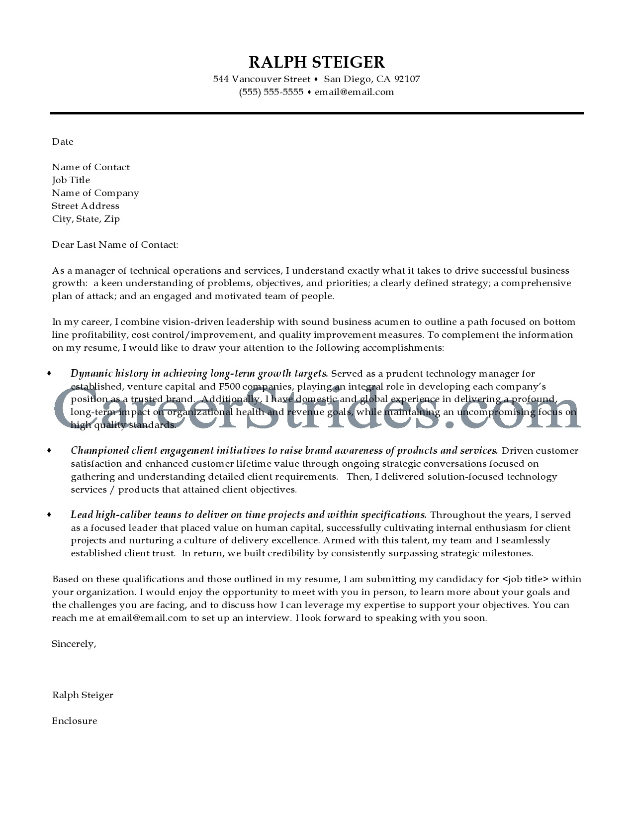 how to create a great cover letter