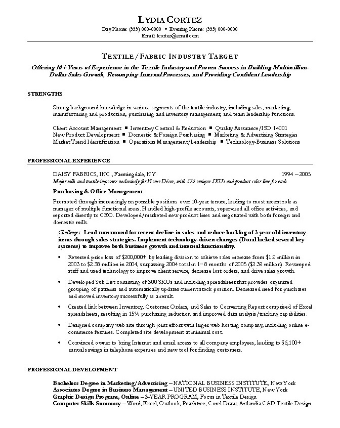 Purchasing Agent Sample Resume 20.07.2017