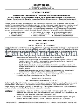 finance resume writing services sample