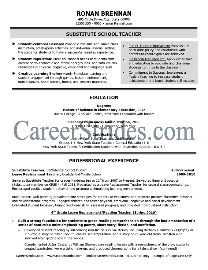Onlypage one ofthis resume is visible. Copyrighted. Do Not Copy.